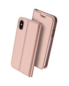DUX DUCIS SkinPro Wallet Stand Case Θήκη Πορτοφόλι - Rose Gold (iPhone X / Xs)
