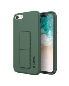 Wozinsky Kickstand Flexible Silicone Case - Θήκη Σιλικόνης με Stand Dark Green (iPhone 7 / 8 / SE 2020)