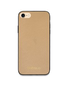 Babaco Premium PU Leather Σκληρή Θήκη Brown / Gold (iPhone 7 / 8 / SE 2020)