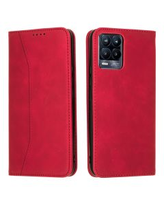 Bodycell PU Leather Book Case Θήκη Πορτοφόλι με Stand - Red (Realme 8 / 8 Pro)
