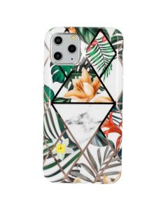 Cosmo Marble Silicone Case Θήκη Σιλικόνης Design 05 Flower (iPhone 6 / 6s)
