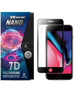Crong 7D Nano Flexi Full Face Black (CRG-7DNANO-IP8PBLK) Αντιχαρακτικό 9H Hybrid Screen Protector (iPhone 7 Plus / 8 Plus)