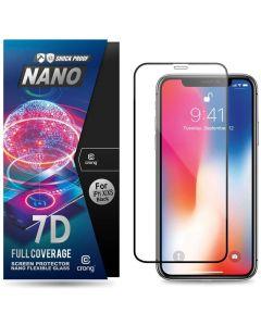 Crong 7D Nano Flexi Full Face Black (CRG-7DNANO-IPXS) Αντιχαρακτικό 9H Hybrid Screen Protector (iPhone X / Xs)