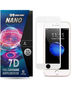 Crong 7D Nano Flexi Full Face White (CRG-7DNANO-IP8-WHT) Αντιχαρακτικό 9H Hybrid Screen Protector (iPhone 7 / 8 / SE 2020)