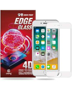 Crong Edge Full Glue Full Face White (CRG-GLEDGE-IP8-WHT) Αντιχαρακτικό Γυαλί 9H Tempered Glass (iPhone 7 / 8 / SE 2020)