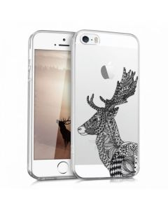 KWmobile Slim Fit Gel Case Reindeer (38247.02) Θήκη Σιλικόνης Διάφανη (iPhone 5 / 5s / SE)