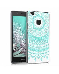 KWmobile Slim Fit Gel Case Indian Sun (39430.02) Θήκη Σιλικόνης Πράσινη Διάφανη (Huawei P9 Lite)