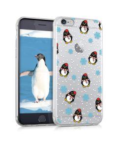 KWmobile Slim Fit Gel Case Penguin Winter (39429.10) Θήκη Σιλικόνης (iPhone 6 / 6s)