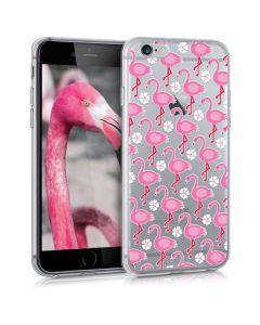 KWmobile Slim Fit Gel Case Flamingo Flowers (35166.26) Θήκη Σιλικόνης (iPhone 6 / 6s)
