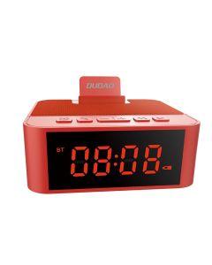 Dudao Y5 AUX Multifunctional Bluetooth Speaker Alarm Clock Ασύρματο Ηχείο - Κόκκινο