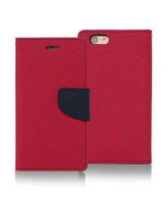 Tel1 Fancy Diary Θήκη Πορτοφόλι με δυνατότητα Stand Pink / Navy (iPhone 5 / 5s / SE)