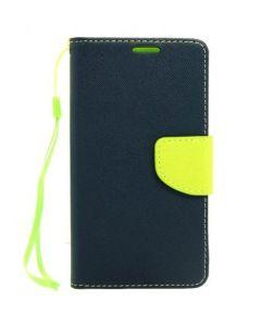 Tel1 Fancy Diary Case Θήκη Πορτοφόλι με δυνατότητα Stand Navy / Lime (Lenovo K3 / A6000)