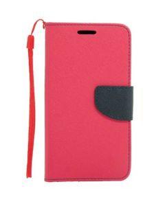 Tel1 Fancy Diary Case Θήκη Πορτοφόλι με δυνατότητα Stand Pink / Navy (HTC One M9)