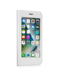 Forcell Full View Book Flip Case Stand - White (iPhone X / Xs)