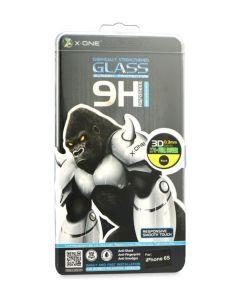 X-One Full Face Αντιχαρακτικό Γυάλινο Προστατευτικό Πλήρους Οθόνης 9H - 2.5D Tempered Glass Screen Protector Black (iPhone 6 / 6s)