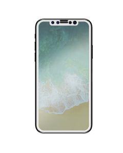 4D Full Screen 9H Tempered Glass with White Frame Αντιχαρακτικό Γυάλινο Προστατευτικό - Λευκό (iPhone X)