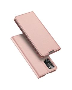 DUX DUCIS SkinPro Wallet Case Θήκη Πορτοφόλι με Stand - Rose Gold (Samsung Galaxy Note 20)