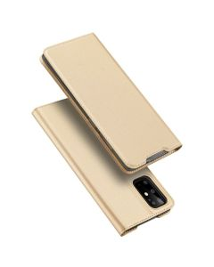 DUX DUCIS SkinPro Wallet Case Θήκη Πορτοφόλι με Stand - Gold (Samsung Galaxy S20 Plus)