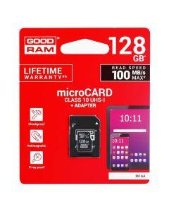 Goodram M1AA MicroSD 128gb Class 10 UHS-1 100MB/s + Adapter