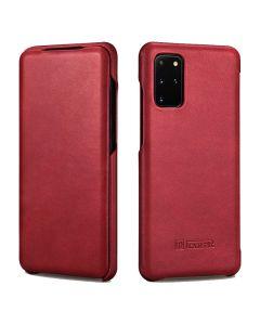 iCarer Vintage Series Curved Edge Δερμάτινη Θήκη Red (Samsung Galaxy S20 Plus)