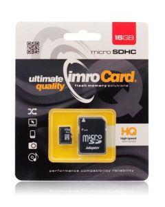 Imro Memory Card microSDHC 16gb - Class 10 UHS-I with Adaptor