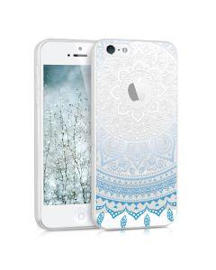 KWmobile Slim Fit Gel Case Indian Sun (35160.04) Θήκη Σιλικόνης Clear - Blue (iPhone 5 / 5s / SE)