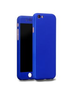 360 Full Cover Case & Tempered Glass - Blue (iPhone 6 / 6s)