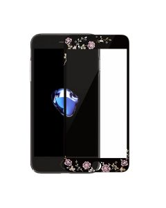 KAUARO Full Face Curved 9H Tempered Glass Black With Strass (iPhone 7 / 8 / SE 2020)