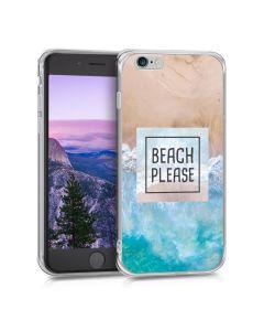 KWmobile Θήκη Σιλικόνης Slim Fit Silicone Case (39429.37) Beach Please (iPhone 6 / 6s)
