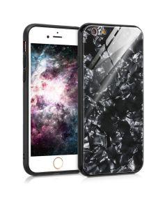 KWmobile Glass TPU Case (44035.03) Black Pattern (iPhone 6 / 6S)