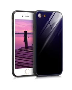 KWmobile Glass TPU Case (45344.98) Purple Black (iPhone 6 / 6S)