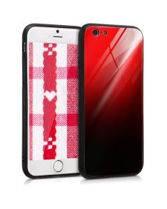 KWmobile Glass TPU Case (45603.01) Red Black (iPhone 6 / 6S)