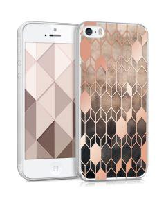 KWmobile Slim Fit Gel Case Glory (40657.07) Θήκη Σιλικόνης Καφέ / Ροζ Χρυσό (iPhone 5 / 5s / SE)