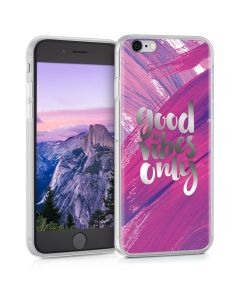 KWmobile Slim Fit Gel Case Good Vibes Only (38296.25) Θήκη Σιλικόνης (iPhone 6 / 6s)
