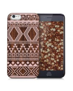 KWmobile Hybrid Case (38452.33) Aztec Muster Wood Design (iPhone 6 / 6s)