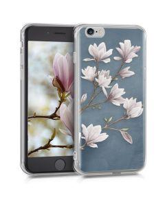 KWmobile Slim Fit Gel Case Magnolias (39429.32) Θήκη Σιλικόνης (iPhone 6 / 6s)