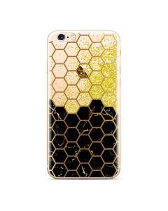 Liquid Glitter Honeycomb TPU Case Θήκη με Χρυσόσκονη - Black (iPhone 6 / 6s)