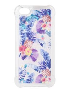 Liquid Glitter Pineapple Case Θήκη με Χρυσόσκονη Blue (iPhone 5 / 5s / SE)