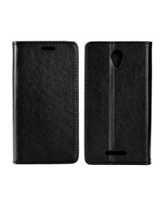 Forcell Magnet Wallet Case Θήκη Πορτοφόλι με δυνατότητα Stand Black (Lenovo A5000)