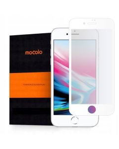 Mocolo Full Glue Full Face Curved White Αντιχαρακτικό Γυαλί 9H Tempered Glass (iPhone 7 / 8 / SE 2020)