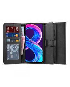 TECH-PROTECT Wallet 2 Case Θήκη Πορτοφόλι με Stand - Black (Realme 8 / 8 Pro)