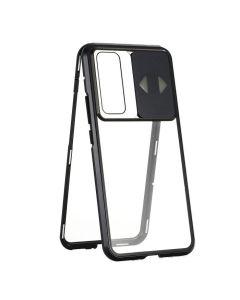Wozinsky Magneto Cam Slider Full Glass Case - Μαγνητική Θήκη Clear / Black (Samsung Galaxy S20 Plus)
