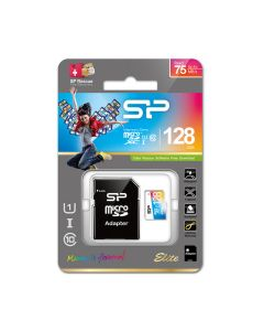 Silicon Power microSDHC 128gb - Class 10 UHS-1 Elite Colorful with Adaptor