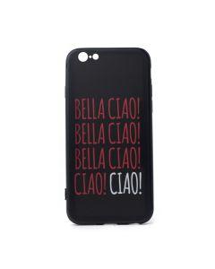 Slim Fit TPU Case La Casa De Papel Σκληρή Θήκη με TPU Bumper Bella Ciao Black (iPhone 7 / 8 / SE 2020)