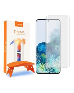 T-MAX Glass (Liquid Dispersion Tech) Full Cover Tempered Glass Screen Protector (Samsung Galaxy S20 Plus)