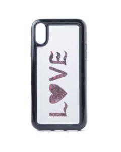 Vennus Mirror Water Case Glitter Love (iPhone X)