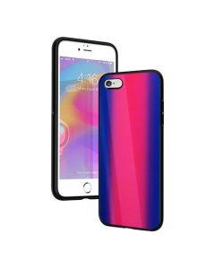 Vennus Glass Reflect Case Φούξια / Μπλε (iPhone 6 / 6s)