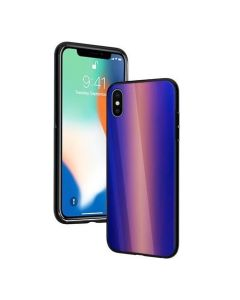 Vennus Glass Reflect Case Κίτρινο / Μπλε (iPhone X / Xs)
