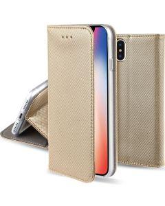 Forcell Smart Book Case με Δυνατότητα Stand Θήκη Πορτοφόλι Χρυσή (iPhone X)