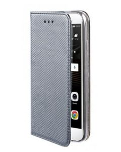 Forcell Smart Book Case με Δυνατότητα Stand Θήκη Πορτοφόλι Γκρι (iPhone X)